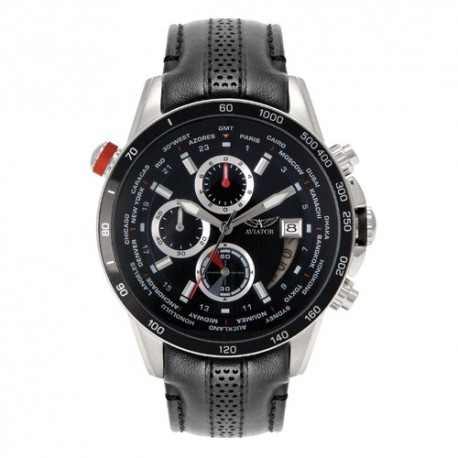 Montre Aviator World Time  pour Homme - AVW8947G76