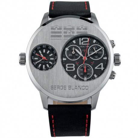 Montre homme Serge Blanco RUGBY DUAL chrono - SB1131-1