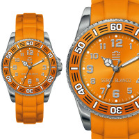 Montre Serge Blanco TEAM XV Femme Orange - SB4023/27