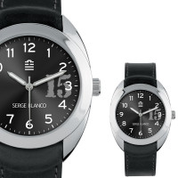 Montre Serge Blanco NEW BASIC Mixte Noir - SB1080/17