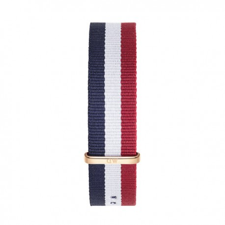 Bracelet Cambridge 20mm Daniel Wellington  mixte Navy-blanc-rouge - W0303DW