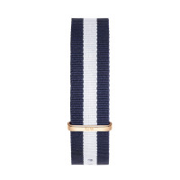 Bracelet Glasgow 20mm Daniel Wellington  mixte Navy & blanc - W0304DW