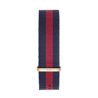 Bracelet Oxford 20mm Daniel Wellington  mixte Navy & rouge - W0301DW