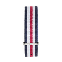 Bracelet Canterbury 20mm Daniel Wellington  mixte Navy-blanc-rouge - W0402DW