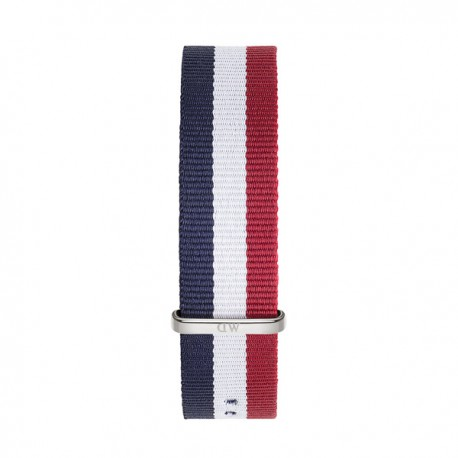 Bracelet Cambridge 20mm Daniel Wellington  mixte Navy-blanc-rouge - W0403DW