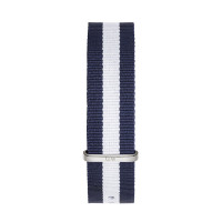 Bracelet Glasgow 20mm Daniel Wellington  mixte Navy & blanc - W0404DW