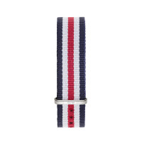 Bracelet Canterbury 18mm Daniel Wellington  mixte Navy-blanc-rouge - W0806DW