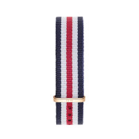 Bracelet Canterbury 18mm Daniel Wellington  mixte Navy-blanc-rouge - W0702DW