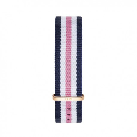 Bracelet Southampton 18mm Daniel Wellington  mixte Navy-blanc-rose - W0706DW
