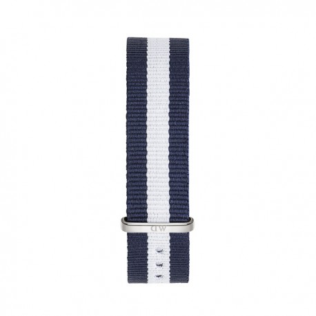 Bracelet Glasgow 18mm Daniel Wellington  mixte Navy & blanc - W0802DW