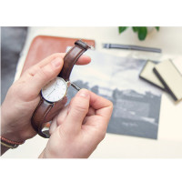 Bracelet Bristol 18mm Daniel Wellington  mixte Marron - W0811DW