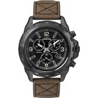 Montre Timex Expédition Rugged chrono noir - marron Homme T49986D7