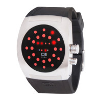 Montre The One Screw Me Mixte Noire - SW102R3