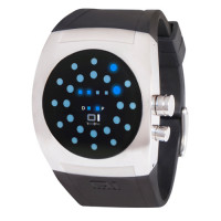 Montre The One Screw Me Mixte Noire - SW102B3