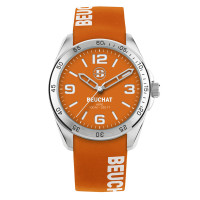 Montre Beuchat Hero Color Mixte orange silicone  - BEU0346/95