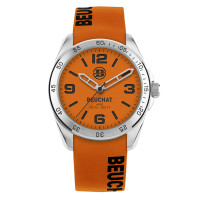 Montre Beuchat Hero Color Mixte orange silicone  - BEU0346/94