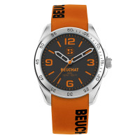 Montre Beuchat Hero Color Mixte orange silicone  - BEU0346/93