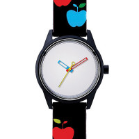 Montre Mixte Q&Q Smile Solar Floral Collection blanche - QRP00J020Y