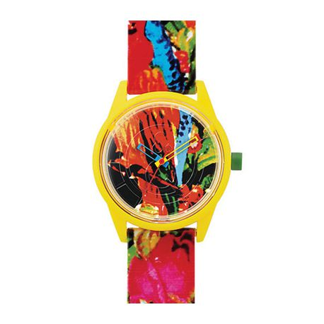 Montre Q&Q Smile Solar Floral Collection Mixte multicolore - QRP00J025Y