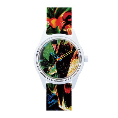 Montre Q&Q Smile Solar Floral Collection Mixte multicolore - QRP00J026Y