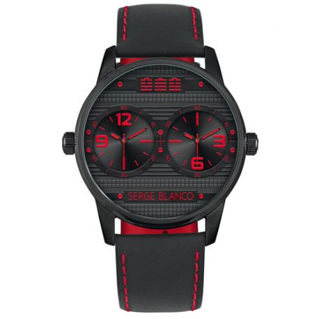 Montre SERGE BLANCO Rugby Dual Time - SB1130-40
