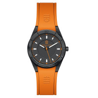 Montre Mixte SERGE BLANCO modèle ALL COLOR Noire Et Orange - SB1095/5