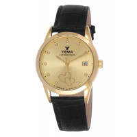 Montre YEMA Femme Champagne Avec Strass - YEAU 040/1EA