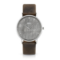 Montre Homme REC Watches modèle Minimalist Marron - L1