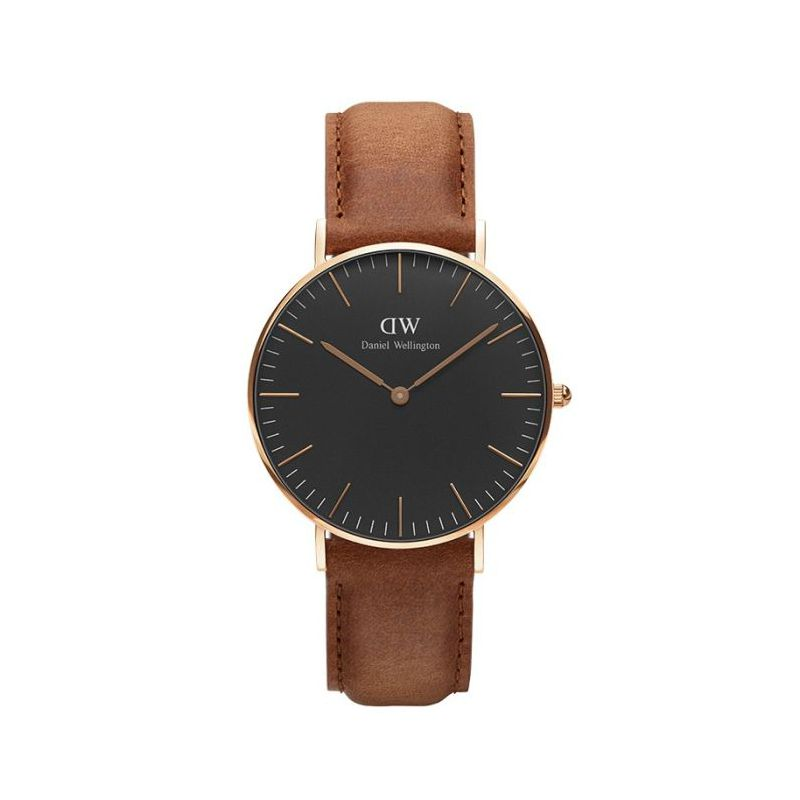 montre daniel wellington homme mod le durham dor e noire et marron dw00100138. Black Bedroom Furniture Sets. Home Design Ideas
