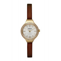 Montre MORGAN Femme Cuir Lisse Marron - MG 007S-1BU