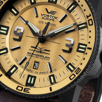 Montre Caspian Sea Monster EKRANOPLAN Vostok Cuir Marron- NH35-546C513