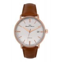 Montre LA BOISSIERE YONGER & BRESSON Homme Silver - Index rose gold - YBH 094-2FS42