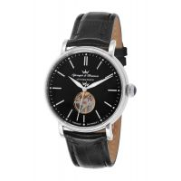 Montre CERNY YONGER & BRESSON Homme Noir - Index chromé - YBH 8524-51 B