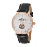 Montre CERNY YONGER & BRESSON Homme Silver - Index rose gold - YBH 8524-54 B