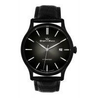 Montre BEAUMESNIL YONGER & BRESSON Homme Noir - Index chromé - YBH 8564-13