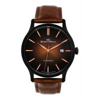 Montre BEAUMESNIL YONGER & BRESSON Homme Brun - Index rose gold - YBH 8564-23