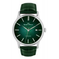 Montre BEAUMESNIL YONGER & BRESSON Homme Vert - Index chromé - YBH 8564-29