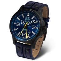 Montre Homme Bleu  Expedition Vostok NP1 Dual Time - 515-24/595A503