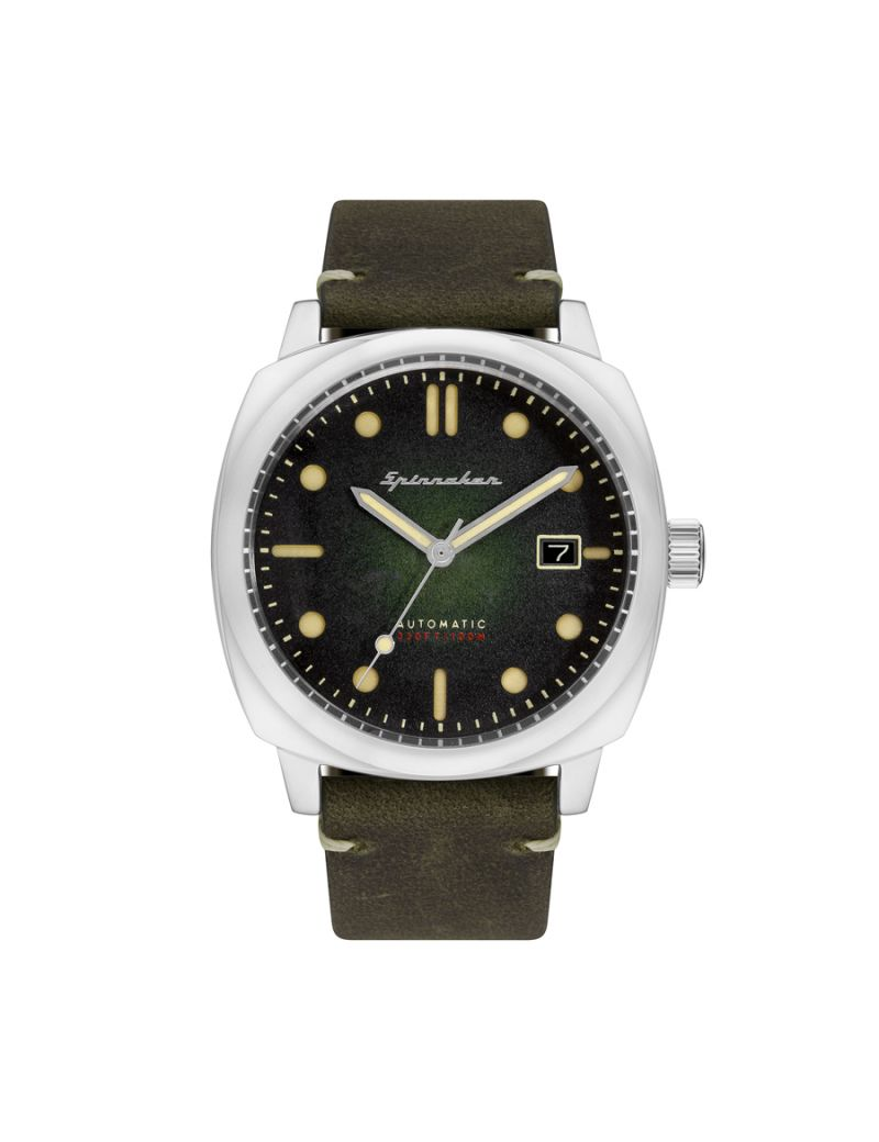 Montre HULL Automatic SPINNAKER Homme Vert - SP-5059-03