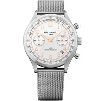 Montre Vintage william l 1985 Chronographe WILLIAM L Homme Blanc - WLAC01BCORMM