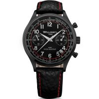 Montre Vintage william l 1985 Chronographe WILLIAM L Homme Noir - WLIB01NRBNSR