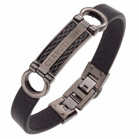 Bracelet Collection Capsule Cerruti Homme Noir - CJB009SBUBK