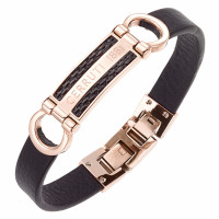 Bracelet Collection Capsule Cerruti Homme Noir - CJB009SRBBK
