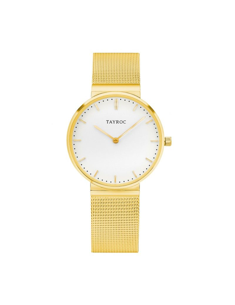 Montre Signature Tal TAYROC Homme Blanc - TY141