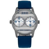 Montre SERGE BLANCO Rugby Dual Time Bleue - SB1130-43