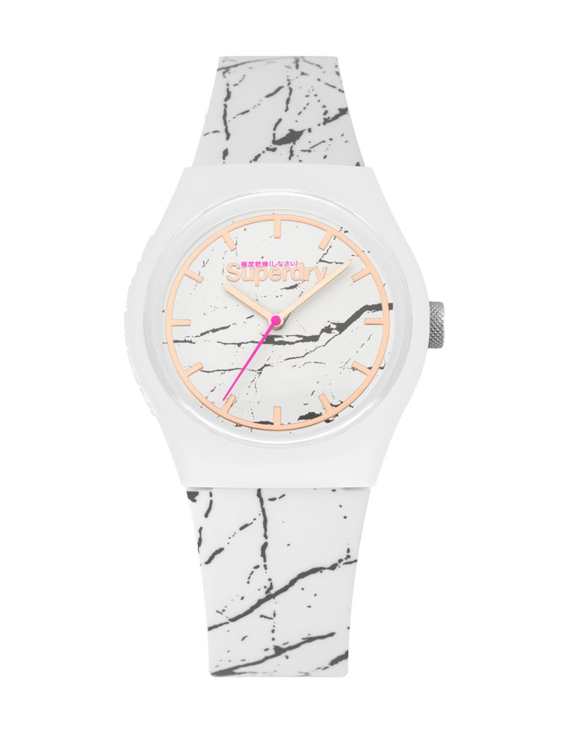 Montre Urban Marble Superdry Femme Blanc - SYL253WE