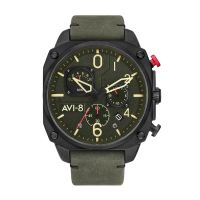 Montre HAWKER HUNTER AVI-8  Homme Vert - AV-4052-08