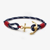 Bracelet Tom Hope 24k Atlantic one Ancre laiton dorée