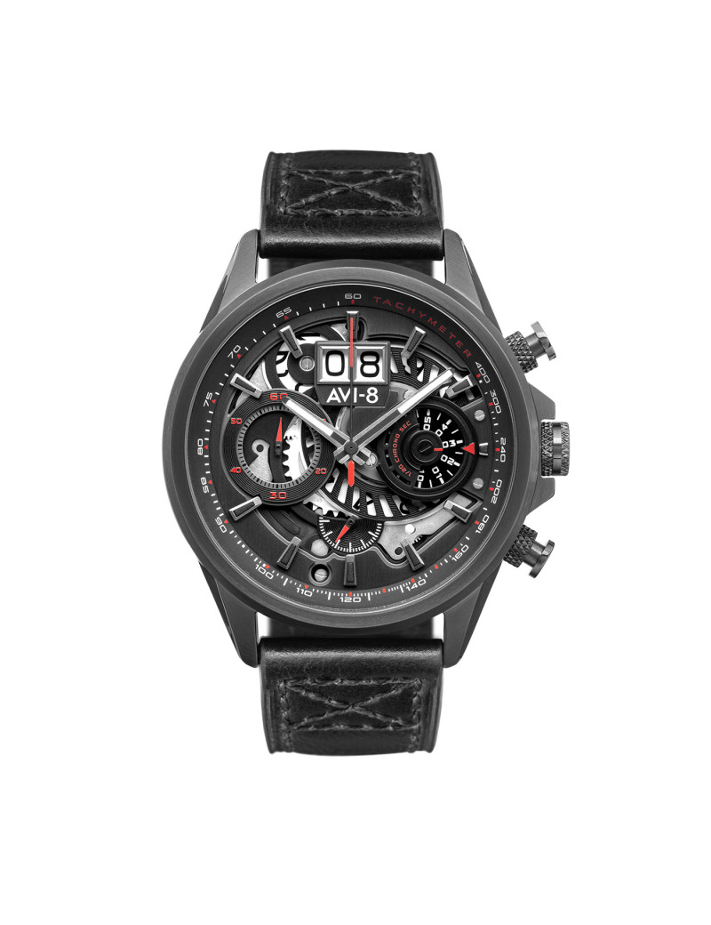 Montre HAWKER HARRIER II AVI-8 Homme Noir - AV-4065-05