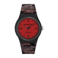 Montre URBAN FLURO CAMO Superdry Mixte Rouge - SYG296BR